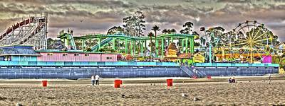 Photograph - Sand And Amusement by SC Heffner