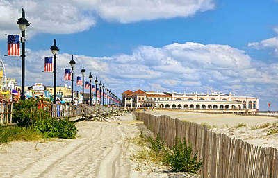 Boardwalk And Music Pier Art Print