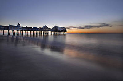 Boardwalk At Dawn Art Print by Eric Gendron