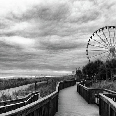 Photograph - Boardwalk At Myrtle Beach by Win-initiative