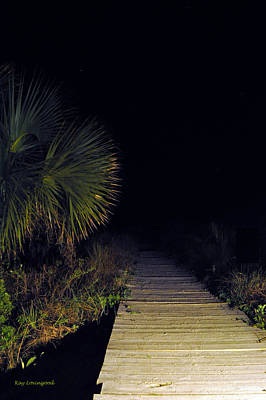 Photograph - Boardwalk At Night by Kay Lovingood