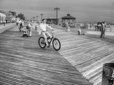Photograph - Boardwalk Bike by Dave Beckerman