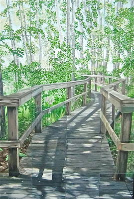 Boardwalk Art Print by Bonnie Heather
