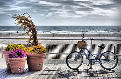 Boardwalk    Hdr Art Print by Thomas  MacPherson Jr