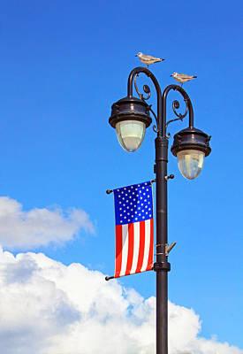 Photograph - Boardwalk Lamplight by Carolyn Derstine