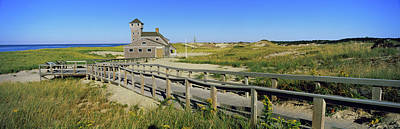 Chatham Photograph - Boardwalk Leading Towards Old Harbor by Panoramic Images