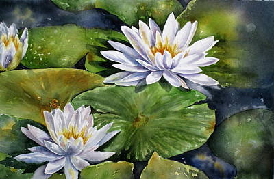 Painting - Boardwalk Lilies by Mary McCullah