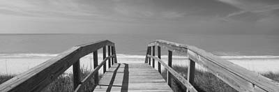 Boardwalk On The Beach, Gasparilla Art Print