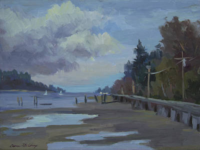 Boardwalk Painting - Boardwalk On Vashon Island by Diane McClary