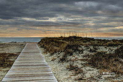 Sunrise At The Beach Photograph - Boardwalk Sunset by Joe Granita