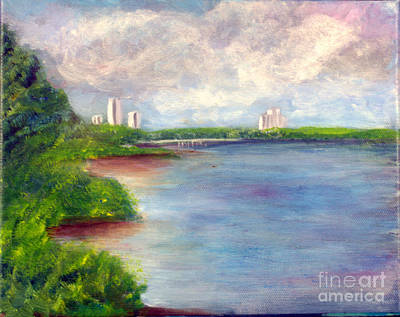 Florida Painting - Boardwalk To Beach At John D Macarthur State Park by Donna Walsh
