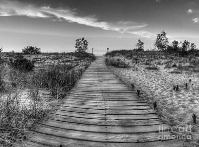Boardwalk To Beach Art Print by Twenty Two North Photography