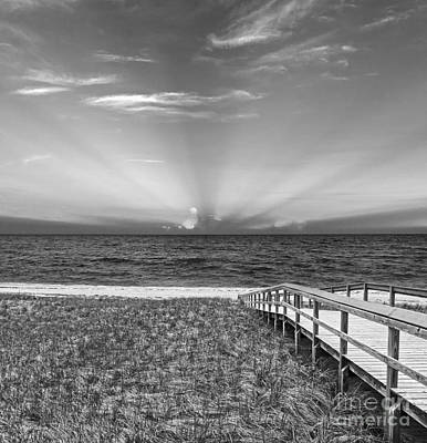 Quiet Time Photograph - Boardwalk To The Sea by Michelle Wiarda
