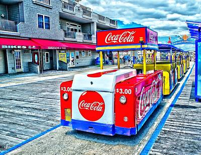 Boardwalk Tram  Art Print by Nick Zelinsky