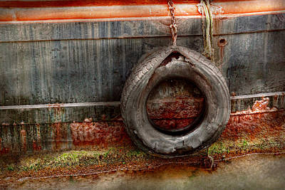 Metal Art Abstraction Photograph - Boat - Abstract - It Was A Good Year by Mike Savad