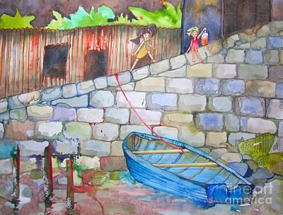 Boat Along The Wall Art Print by Maya Simonson