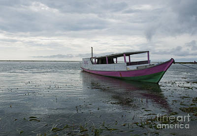 Photograph - Boat Anchored Off Atauro Island by Dan Suzio