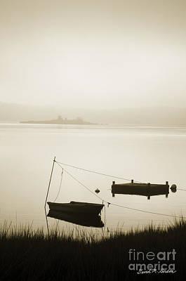 Water Play Photograph - Boat And Dock Taunton River by David Gordon