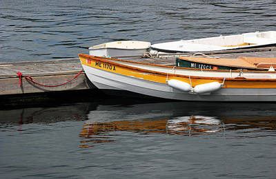 Photograph - Boat And Reflection by Mary Bedy