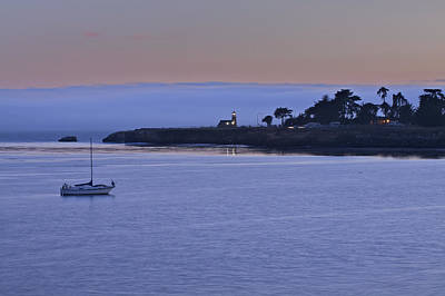 Santa Cruz Photograph - Boat At Dusk 2 by SC Heffner