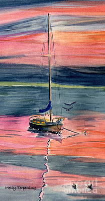 Painting - Boat At Skaneateles Lake  by Melly Terpening
