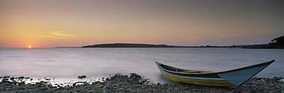 Boat At The Lakeside, Lake Victoria Art Print