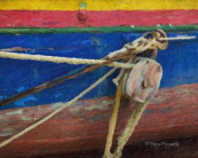 Digital Art - Boat Block by Nancy Morgantini