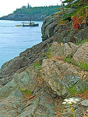 Boat By East Quoddy Bay On Campobello Island-nb Art Print