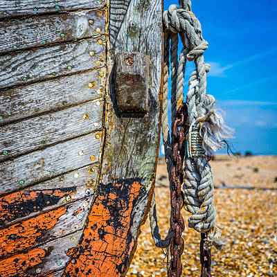 Photograph - Boat Chains And Ropes by Gary Gillette