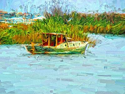 Boat Colors Print by Alice Gipson