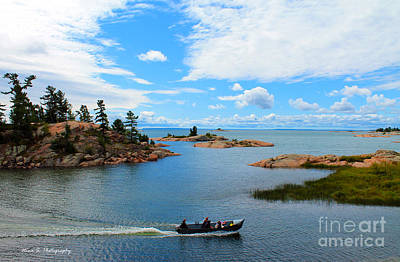 Photograph - Boat Cruise On Georgian Bay by Nina Silver