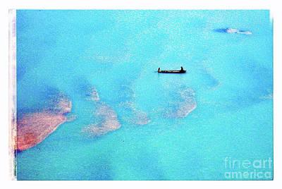 Western Art - Boat Deep Blue by HELGE Art Gallery