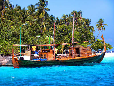 Photograph - Boat Dhoni At Maldivan Island by Jenny Rainbow