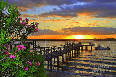 Wilmington Photograph - Boat Dock Sunset by Amy Lucid