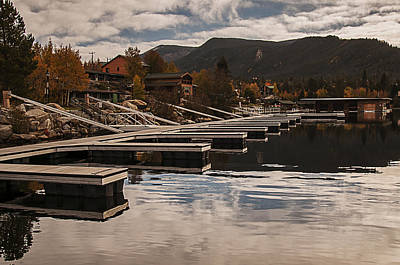 Photograph - Boat Docks On Grand Lake by Lee Kirchhevel