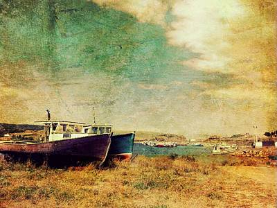 Boat Dreams On A Hill Art Print by Tracy Munson