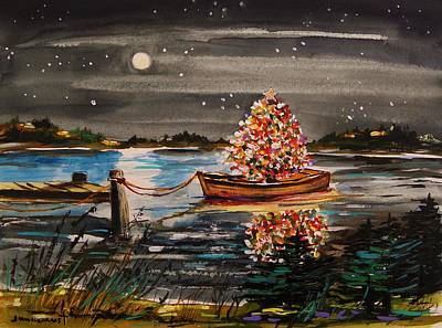 Boat Filled With Light Art Print by John Williams