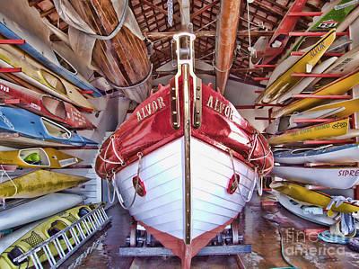Boat Frenzy Art Print by Pauline Flesseman