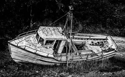 Photograph - Boat Graveyard by Patrick Boening