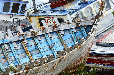 Photograph - Boat Graveyard Peurto Natales Chile 2 by Bob Christopher