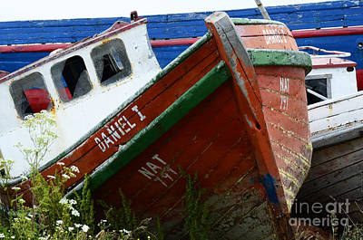 Photograph - Boat Graveyard Peurto Natales Chile 4 by Bob Christopher