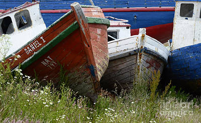 Photograph - Boat Graveyard Peurto Natales Chile 5 by Bob Christopher