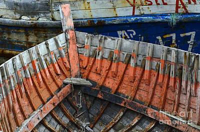 Junk Boat Wall Art - Photograph - Boat Graveyard Puerto Natales Chile 1 by Bob Christopher