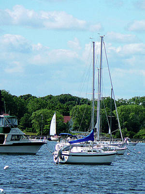 Boat - Harbor At Bristol Ri Print by Susan Savad
