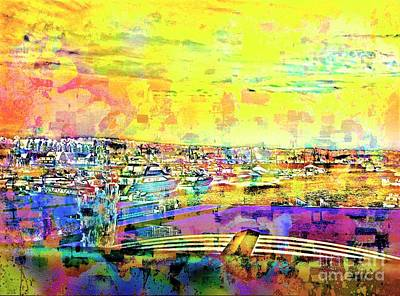 Boat Harbor Art Print