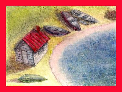 Row Boat Digital Art - Boat House 3 by James Raynor