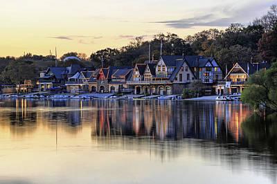 Boat House Row In Philadelphia  Art Print by Dan Myers