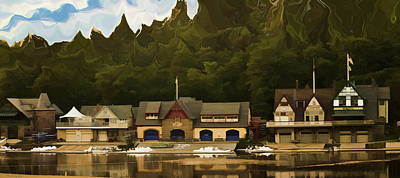Boat House Row Art Print by Trish Tritz