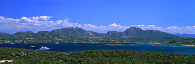 Boat In A Lake, Costa Smeralda Art Print by Panoramic Images