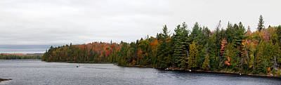 Algonquin Provincial Park Photograph - Boat In Canoe Lake, Algonquin by Panoramic Images